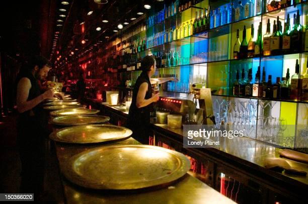 Interior of Nomads Restaurant in Western Canal belt, Jordaan area.