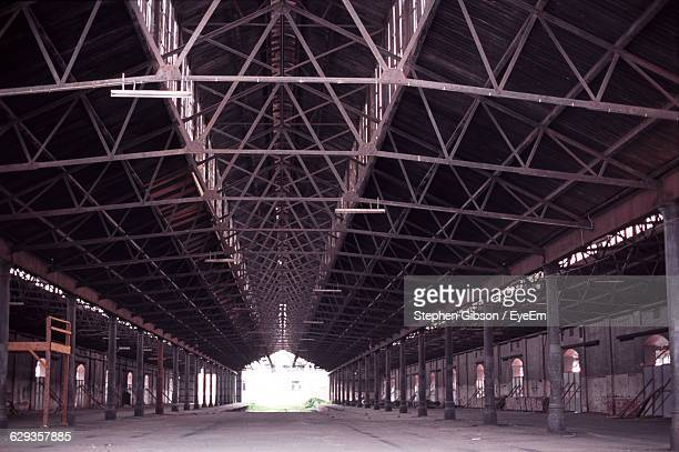 Interior Of Old Abandoned Empty Warehouse