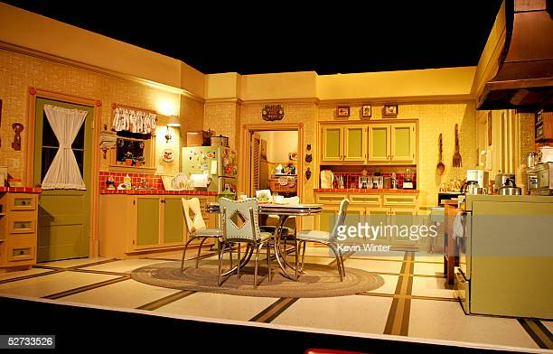 Interior of one of the 'Everybody Loves Raymond' sets is seen at the Everybody Loves Raymond Series Wrap Party at Hanger 8 on April 28 2005 in Santa...