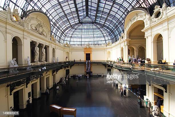 Interior of Palacio de Bellas Artes, Palace of Fine Arts.