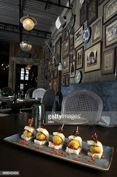 Interior of Pali Bhavan a fine dining restaurant in Bandra on January 7 2013 in Mumbai India