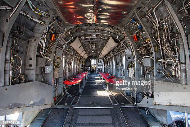 Interior of plane fuselage