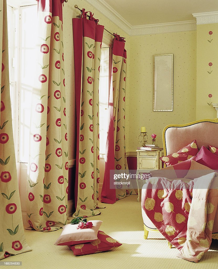 Interior of pretty bedroom : Stock Photo