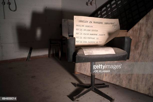 Interior of recently discovered fullyequipped surveillance facility in a secret room located at Hotel Jama at PostojnaSlovenia on May 29 2017 Hotel...