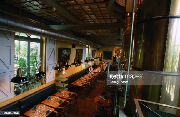 Interior of restaurant La Grande Ecluse, Marolles.