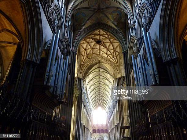 Interior of Salisbury cathedral, England
