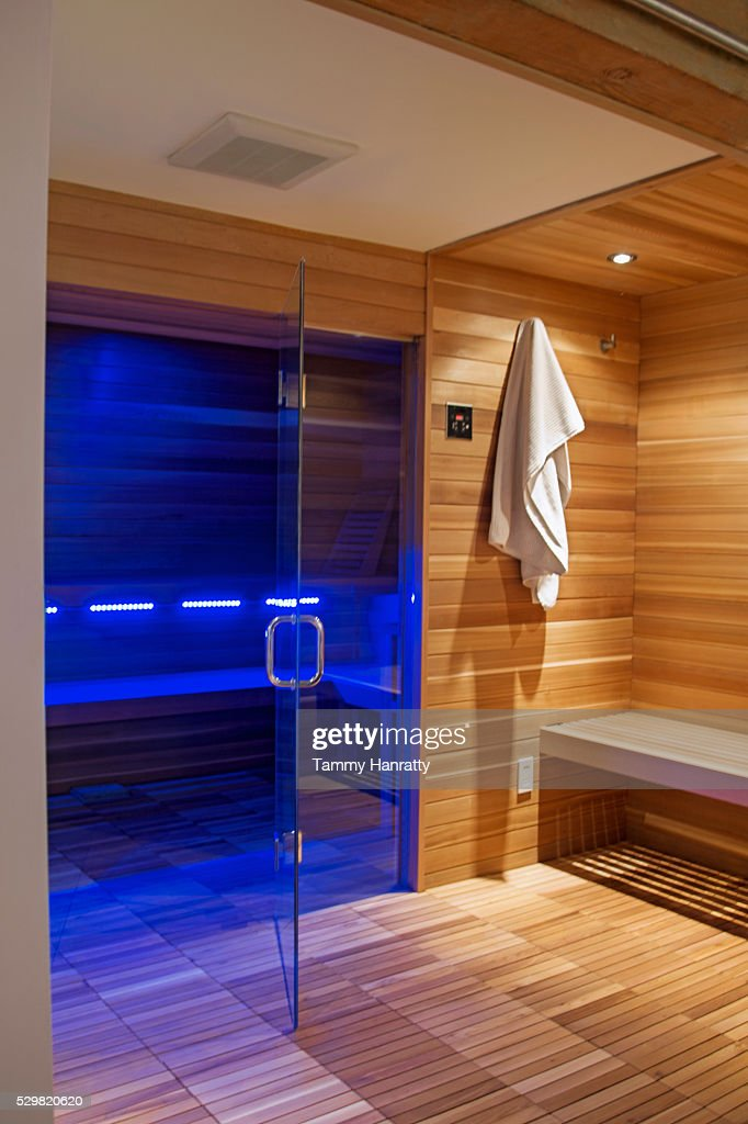 Interior of sauna : Foto de stock