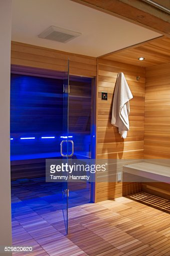 Interior of sauna : Stock Photo