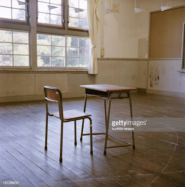 Interior of school classroom