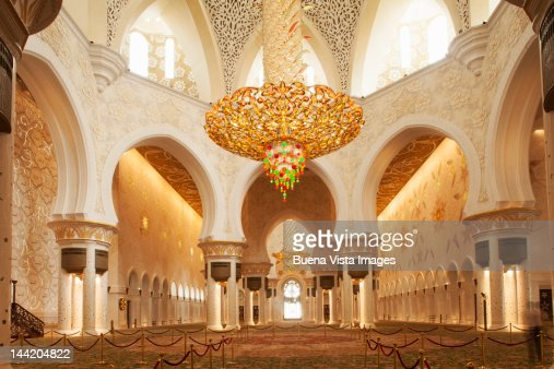 Interior Of Sheikh Zayed Grand Mosque Stock Photo Getty