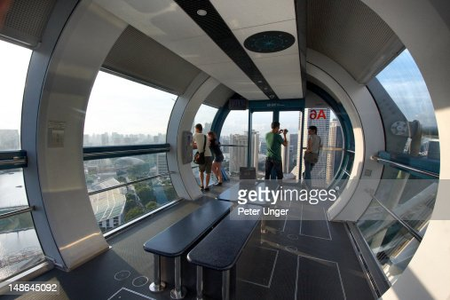 Interior Of Singapore Flyer Capsule Stock Photo | Getty Images
