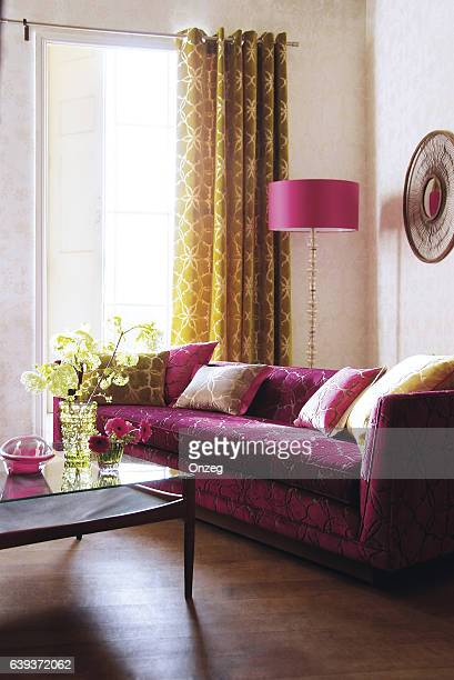 Interior of sofa in living room