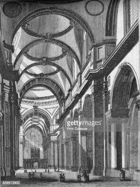 Interior of St Paul's looking East' After William Barnard Clarke From Old England A Pictorial Museum of Regal Ecclesiastical Baronial Municipal and...