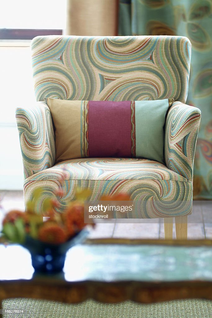 Interior of stylish chair In Window : Stock Photo
