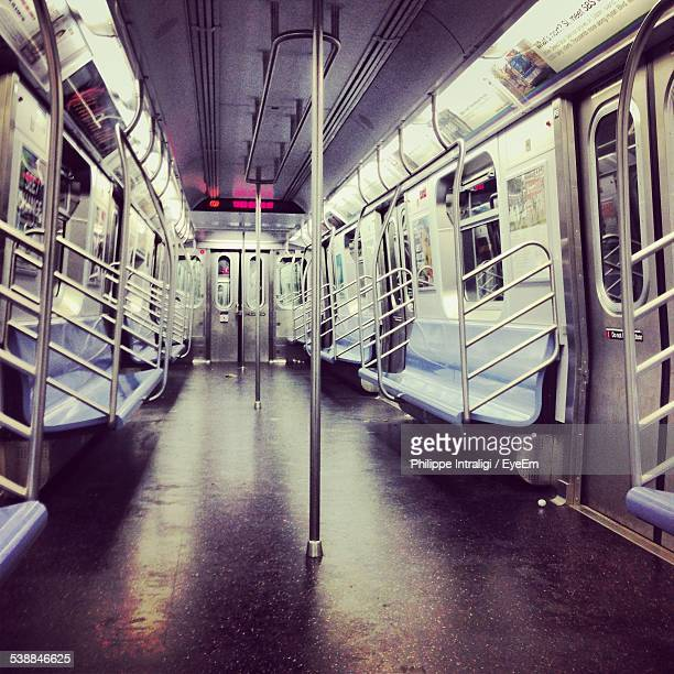 Interior Of Subway Train