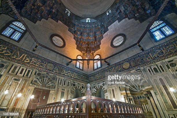 Interior of Sultan Hassan Mosque.