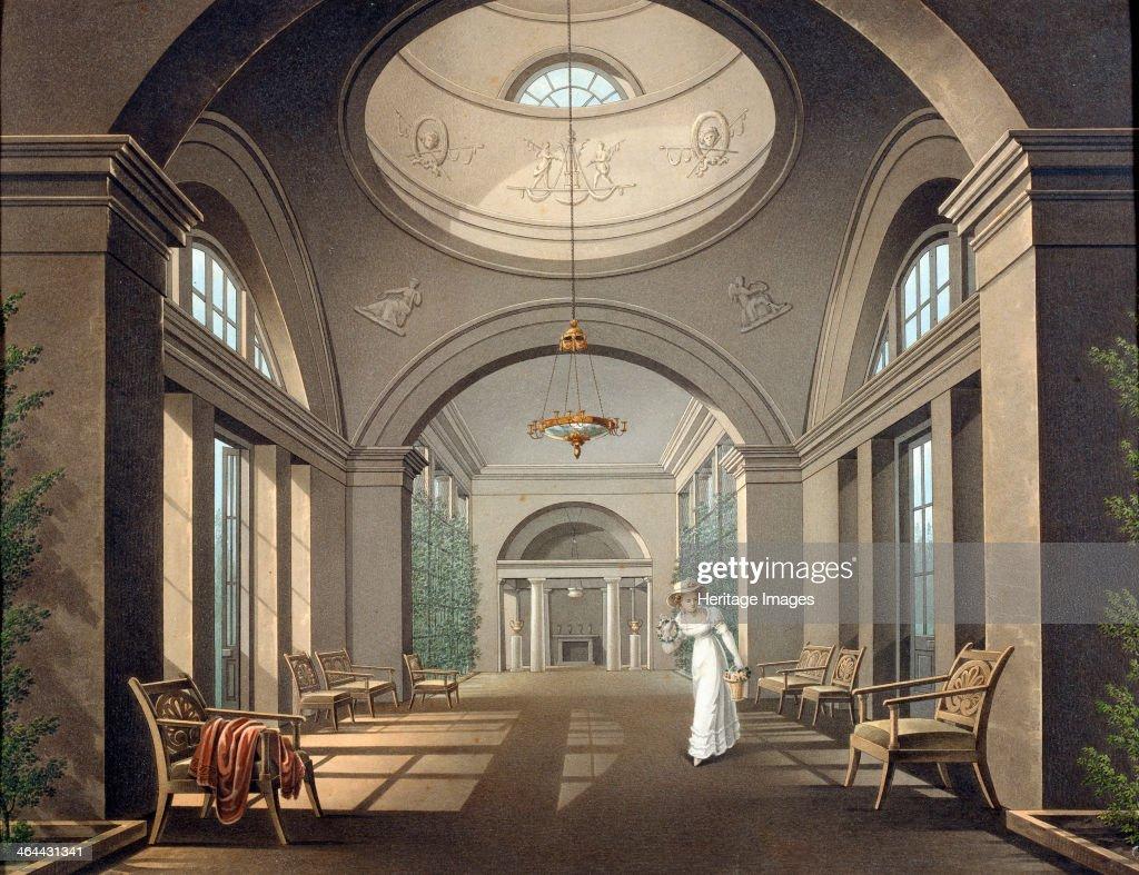 Interior Of The Aviary In Pavlovsk Palace Mid 19th Century