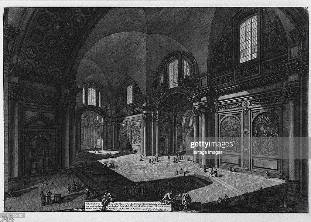 Interior of the basilica of Santa Maria degli Angeli Between 1765 and 1775 From a private collection