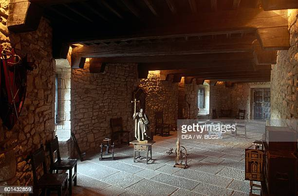 Interior of the Castle of Xavier birthplace of St Francis Xavier Javier Navarra Spain 10th19th century