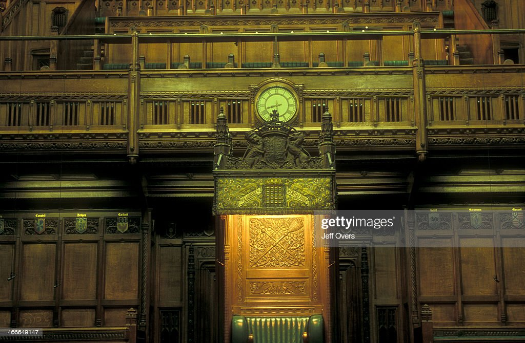 Interior Of The Chamber Of The House Of Commons, In The Houses Of Parliament  /