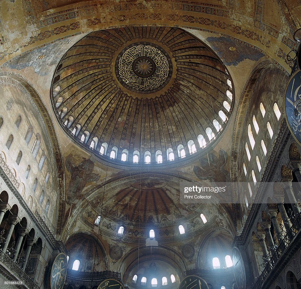 Interior of the church of St Sophia in Istanbul 6th century