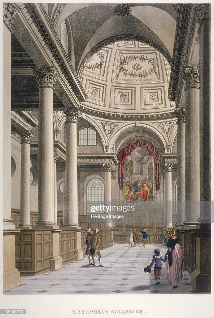 Interior Of The Church Of St Stephen Walbrook, City Of London, 1798. View