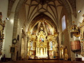 Interior of the Church of the Holy Trinity in Atienza Guadalajara Spain
