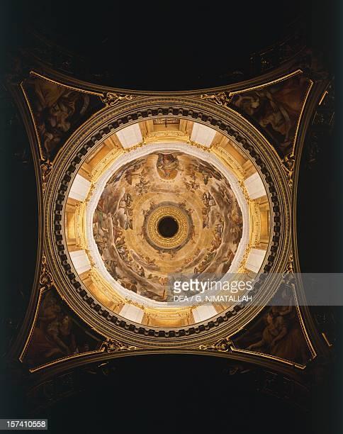 Interior of the dome of the Pauline Chapel Basilica of Santa Maria Maggiore Rome Italy 17th century