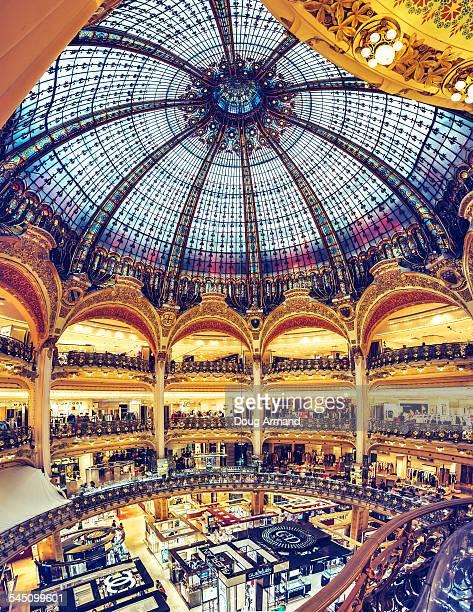 Interior of the Galeries Lafayette store in Paris