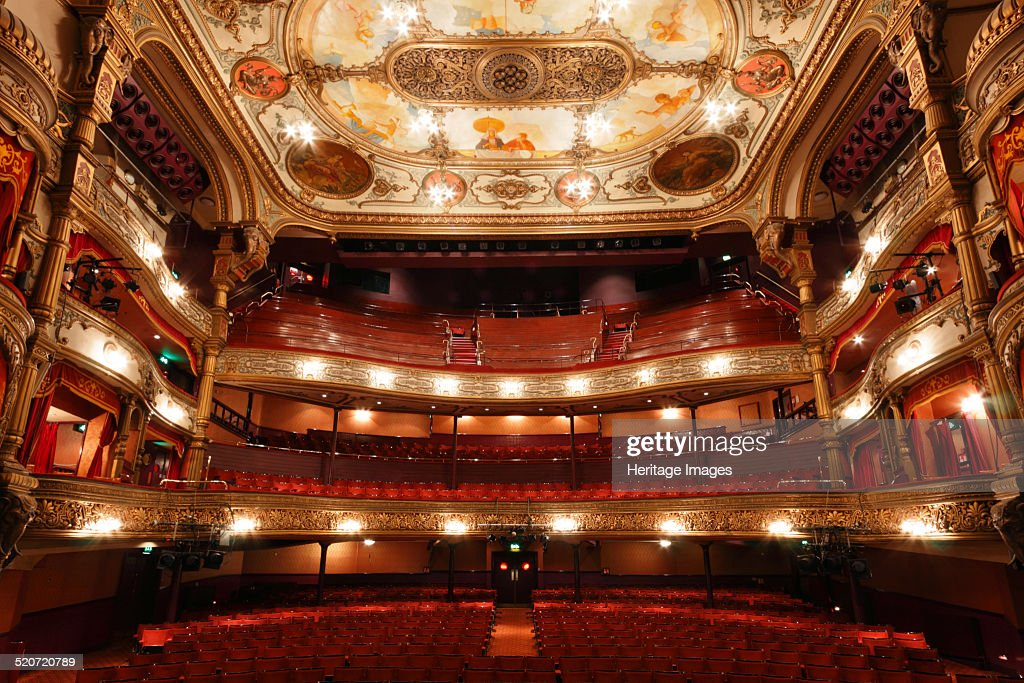 Interior of the Grand Opera House Belfast Northern Ireland 2010 Designed in Oriental style by the famous theatre architect Frank Matcham Belfast's...