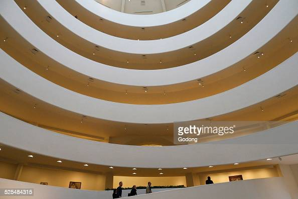 Interior of the Guggenheim Museum Fith Avenue