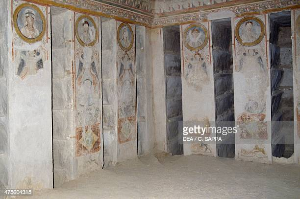 Interior of the Hypogeum of the Three Brothers AD 140 Valley of the Tombs Palmyra Syria Roman civilisation 2nd century AD