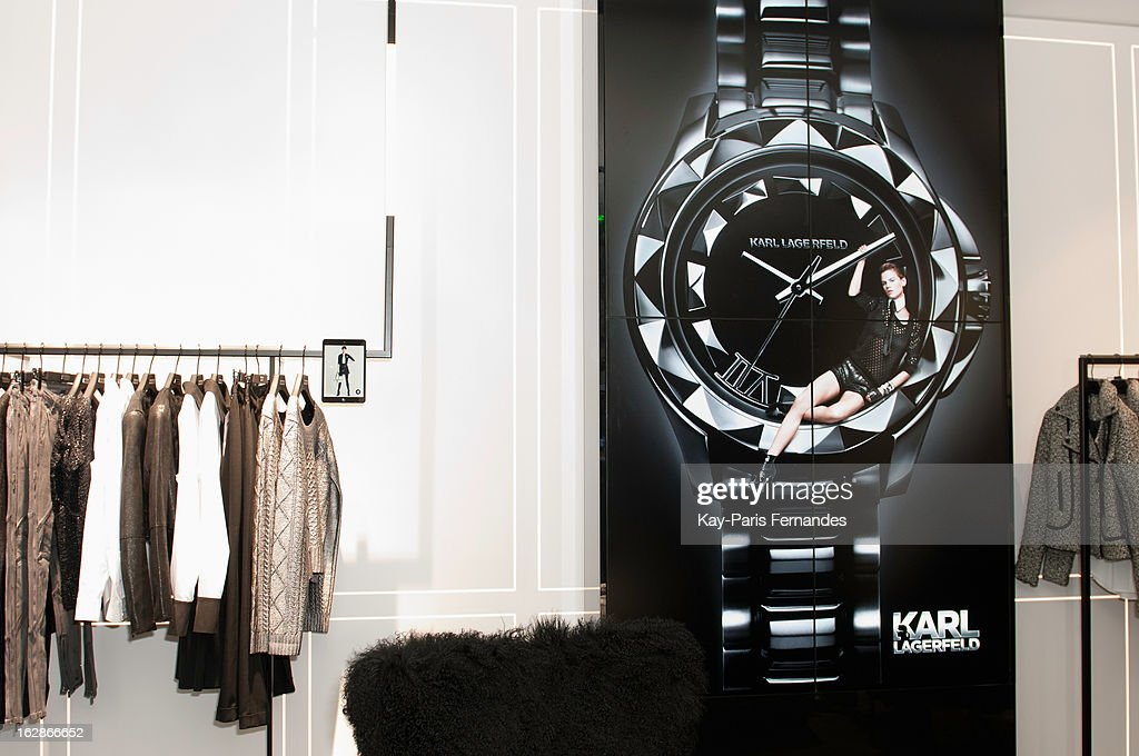 Interior of the Karl Lagerfeld's Concept Store Opening as part of Paris Fashion Week on February 28, 2013 in Paris, France.