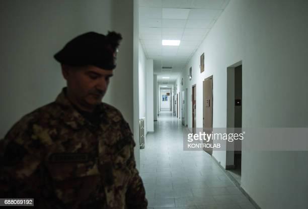 Interior of the Military prison in Santa Maria Capua Vetere southern Italy