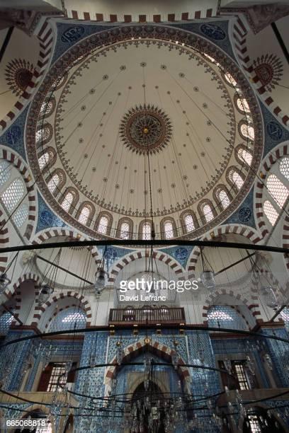 Interior of the Mosque of Rustem Pasha in Istanbul
