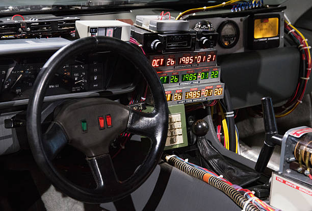 outatime saving the delorean time machine photos and images getty images. Black Bedroom Furniture Sets. Home Design Ideas