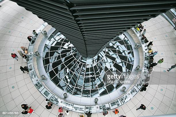 Interior of the Reichstag Dome architect Norman Foster Berlin Germany 20th century