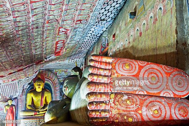Interior of the Royal Rock Temple, Dambulla,