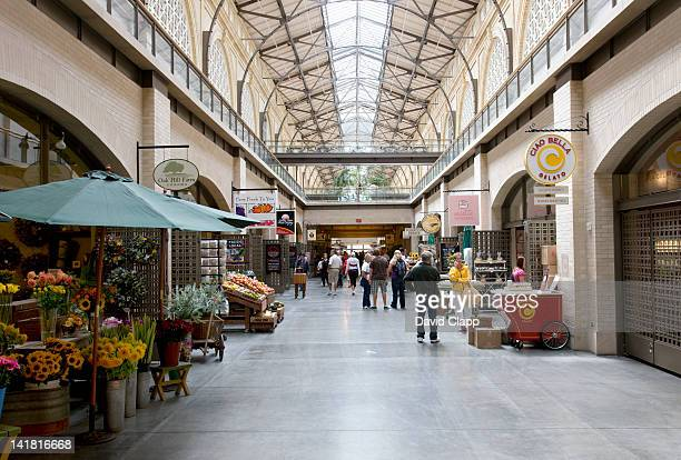 Interior of the San Francisco Ferry Building marketplace on the Embarcadero, California, United States of America, North America