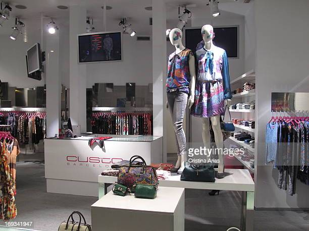 Interior of the shop for the fashion brand Custo Barcelona in Fuencarral Street of Madrid Spain