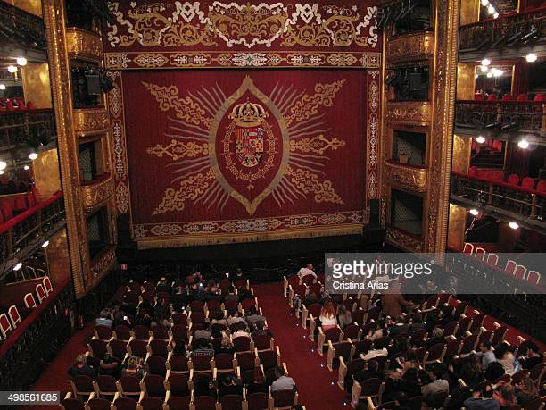 Interior of the Spanish Theatre of Madrid before the start of the representation Spain 15th March 2014