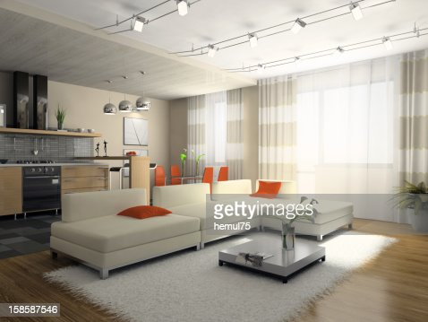 Interior of the stylish apartment : Stock Photo