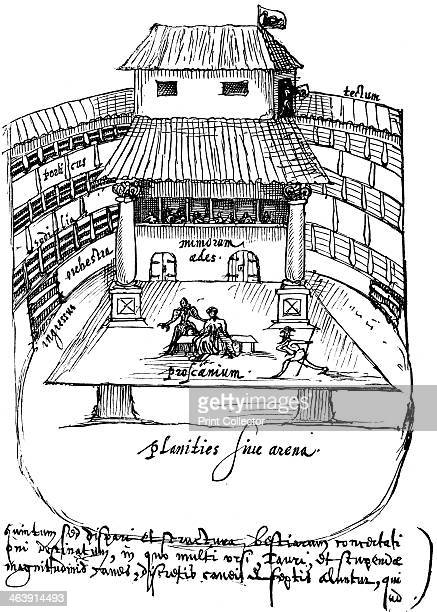 Interior of the Swan Theatre Bankside London 1596 The Swan theatre was built by Francis Langley in c1595 The last known mention of the theatre dates...