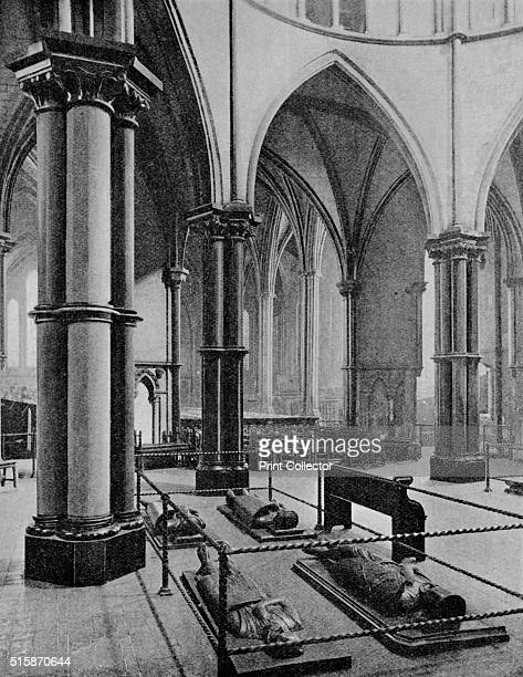 Interior of the Temple Church City of London circa 1905 The Temple Church is a late 12th century church in the City of London located between Fleet...