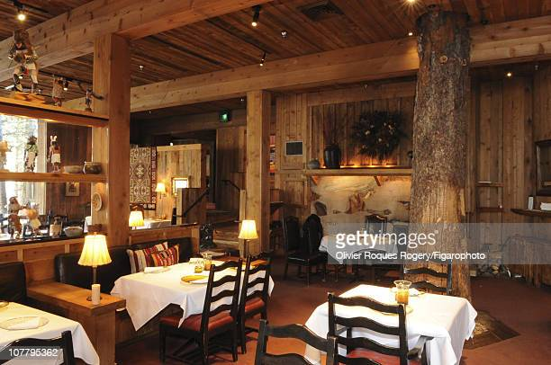 Interior of The Tree Room a restaurant within the Sundance Resort owned by actor Robert Redford photographed for Le Figaro on November 24 2009 in...