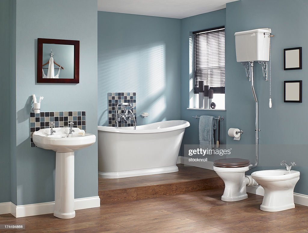 Interior Of Traditional Bathroom Stock Photo Getty Images