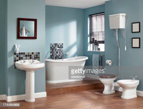 Interior of traditional bathroom