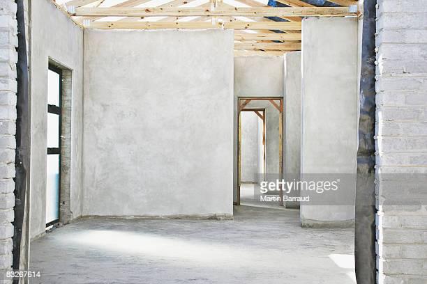Innenansicht des unvollendeten neues Zuhause