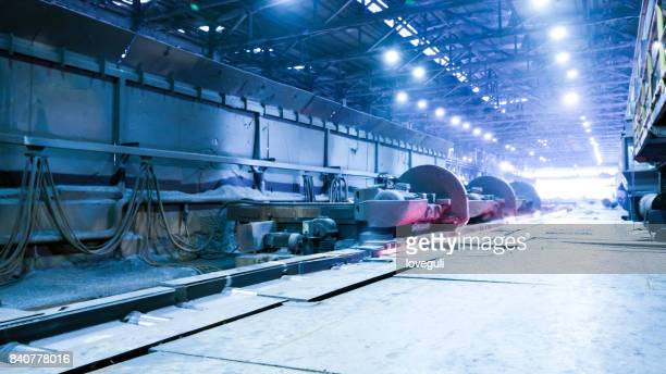 interior of workshop in steel factory
