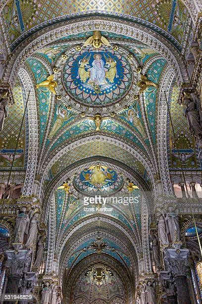 Interior ofThe Basilica of Notre-Dame de Fourviere
